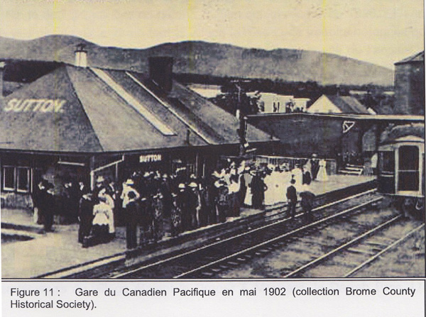 Figure 11: Canadian Pacific Train Station in May 1902 (Brome County Historical Society collection)